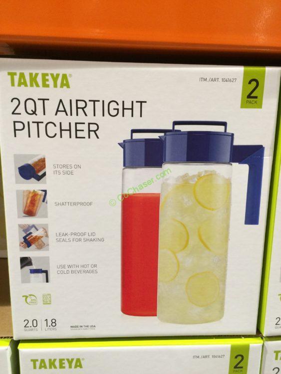 Takeya USA 2 QT Airtight Pitcher 2 Pack