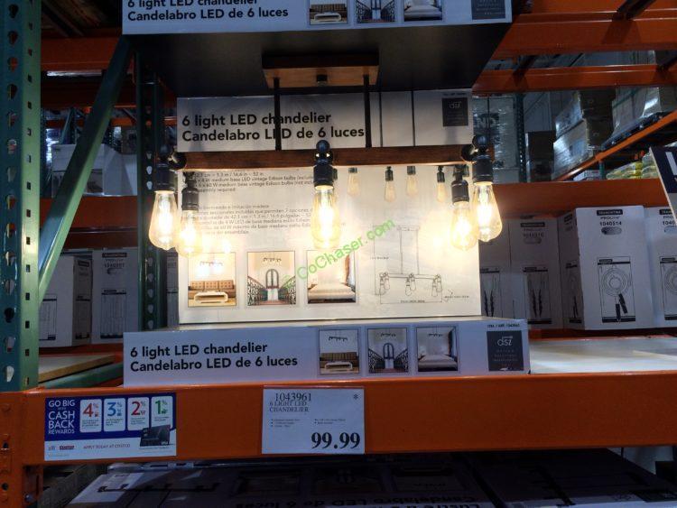6 Light LED Chandelier by Design Solutions International Inc.