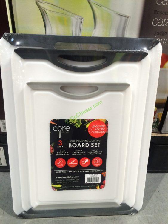 Core Kitchen 3PC Polypropylene Cutting Boards
