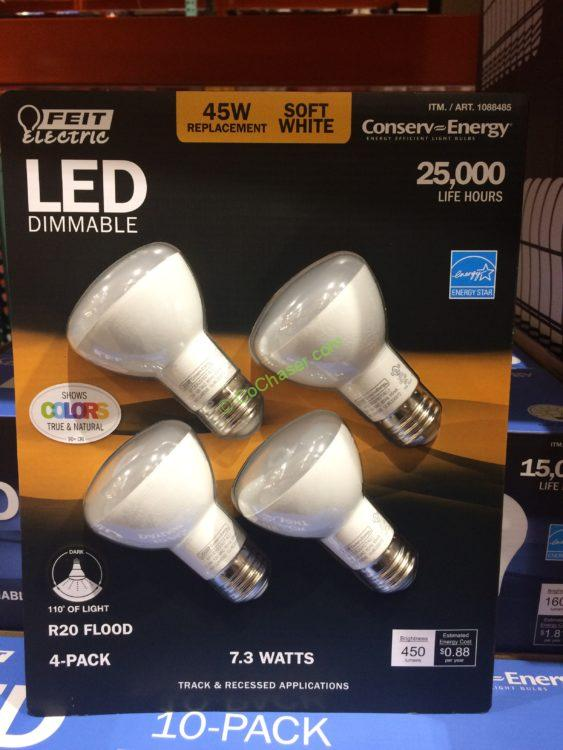 Feit Electric LED R20 Flood 4 Pack