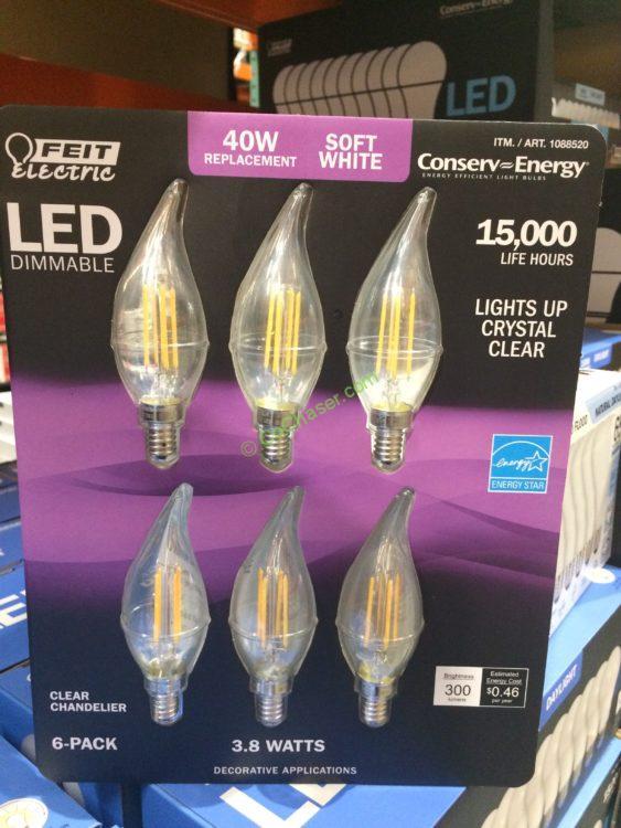 6 Electric Pack Feit Bulbs Chandelier Costcochaser Led – Yf7bygmI6v