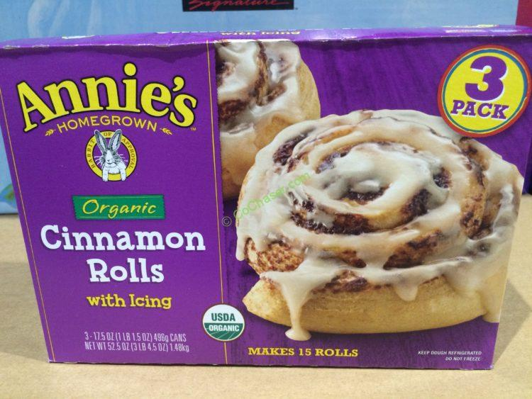 Annie's Organic Cinnamon Rolls with Icing 3/17.5 Ounce Tubes