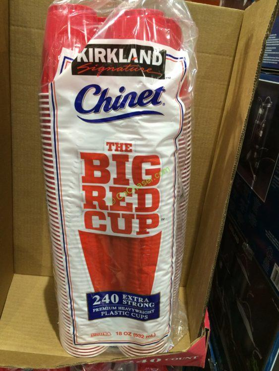 Kirkland Signature Chinet 18 Oz Red Cups 240 Count