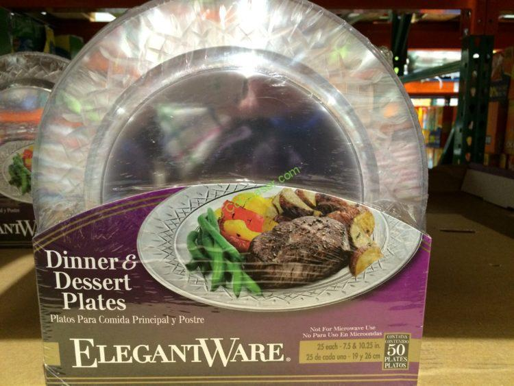Elegantware Clear Plate Combo Pack 50 Count – CostcoChaser