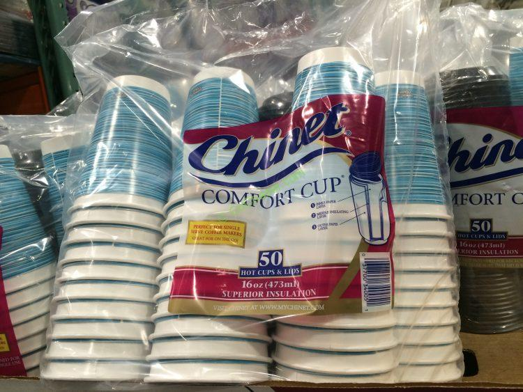 Chinet 16 OZ Comfort Cups 50 CT Cups with Lids