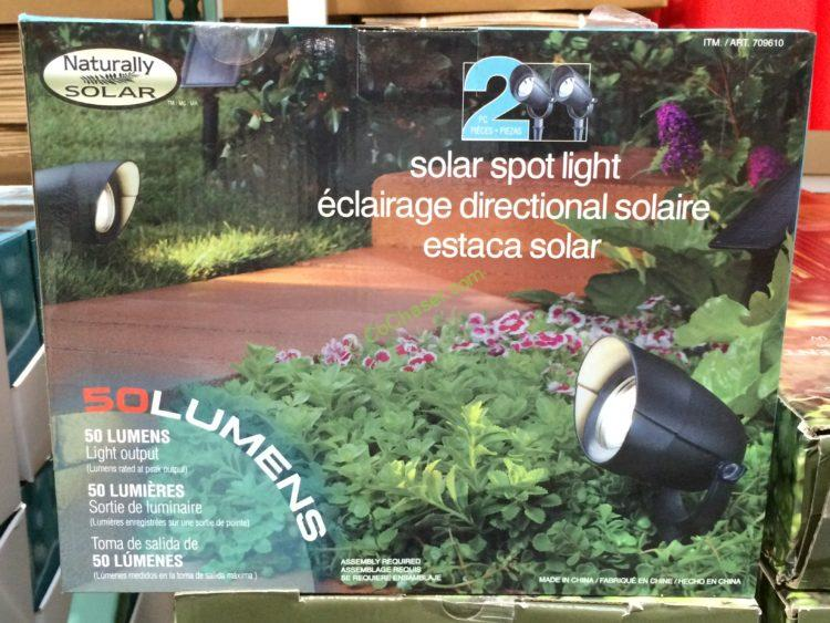 spot lights led solar by naturally solar 2 pack costcochaser. Black Bedroom Furniture Sets. Home Design Ideas