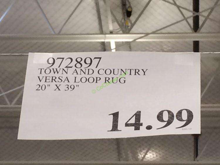 "Town and Country Versa Loop Rug 20"" X"