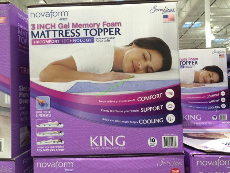 Novaform Serafina Tricomfort 3 Gel Memory Foam Mattress Topper Queen Or King Costcochaser