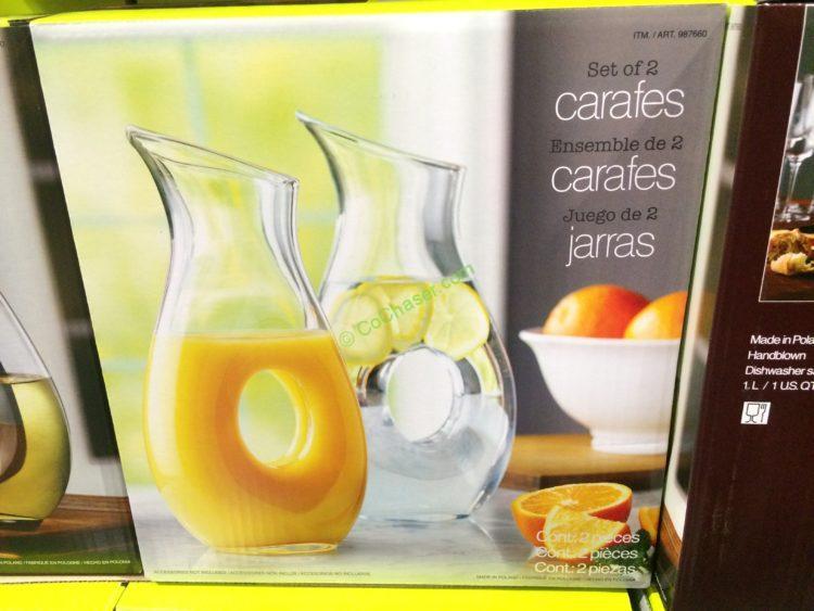 HSG Glass Carafe Set of 2