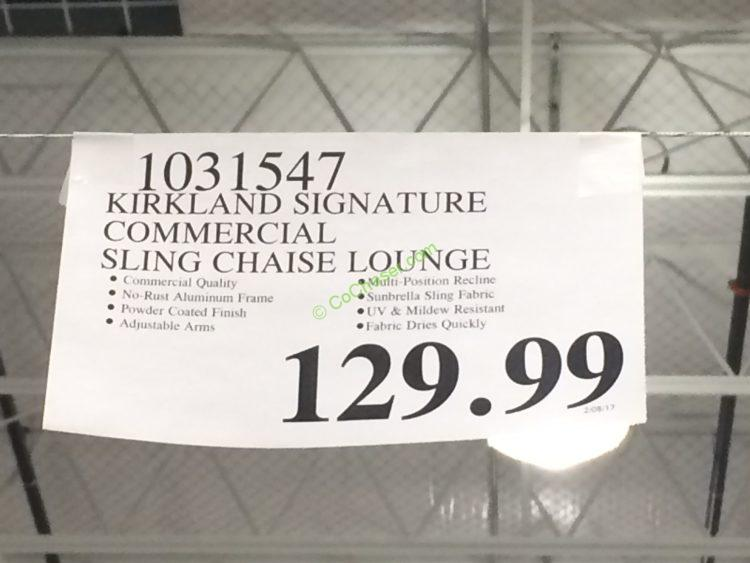 Kirkland Signature Commercial Sling Chaise Lounge Costcochaser