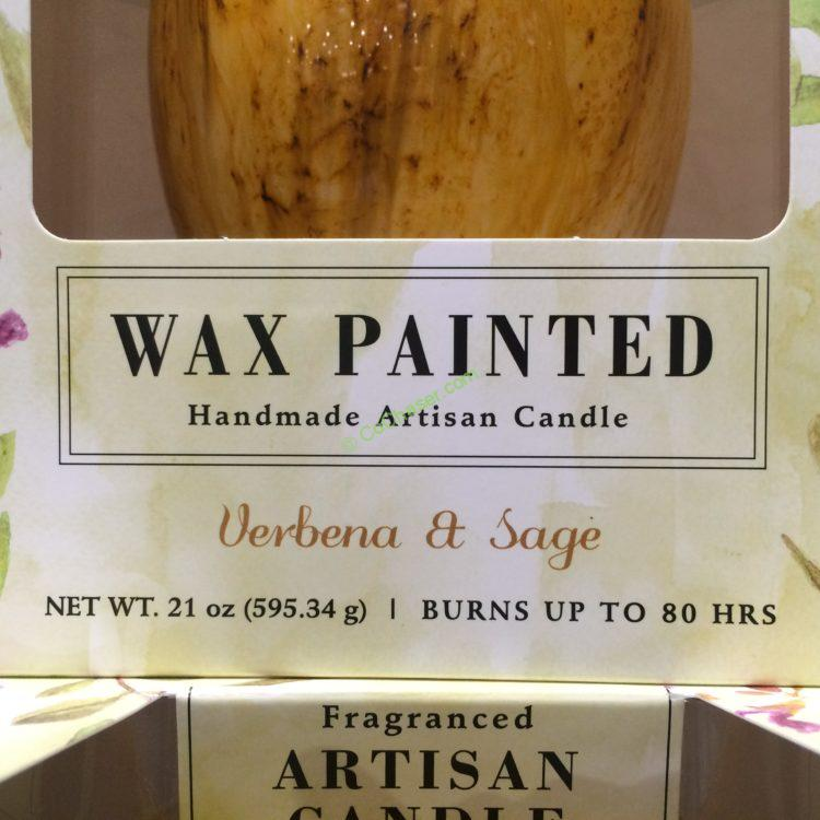 painted wax 21oz tulip candle costcochaser