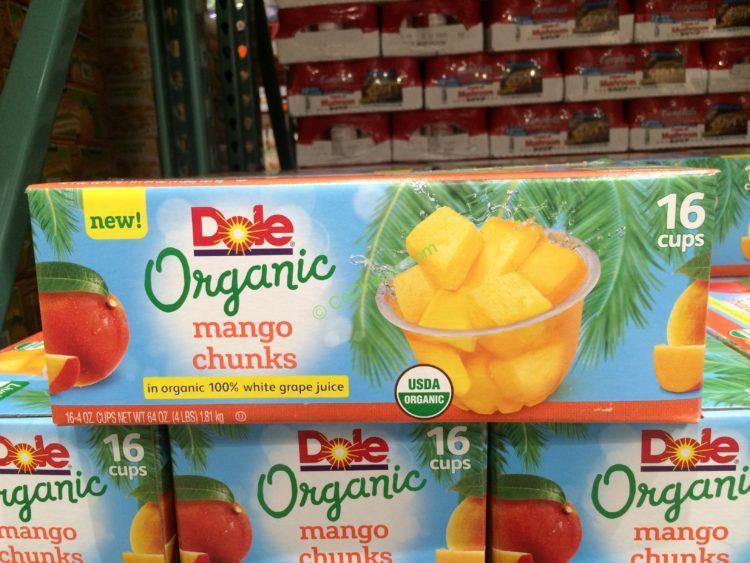 Dole Organic Mango Chunks 16/4 Ounce Cups