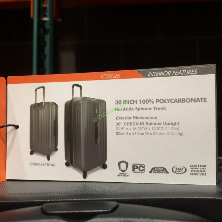 Costco-1045105-Traveler-Choice-30-Spinner-Trunk-spec3