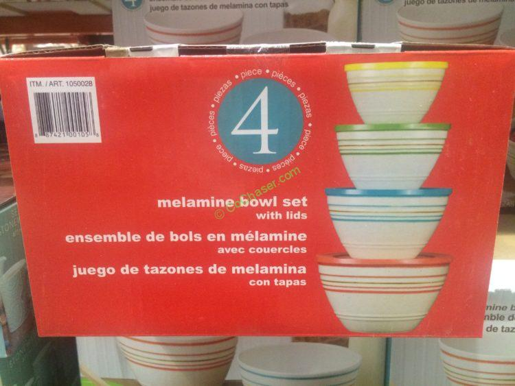 4 Melamine Mixing Bowls Set With Lids Costcochaser