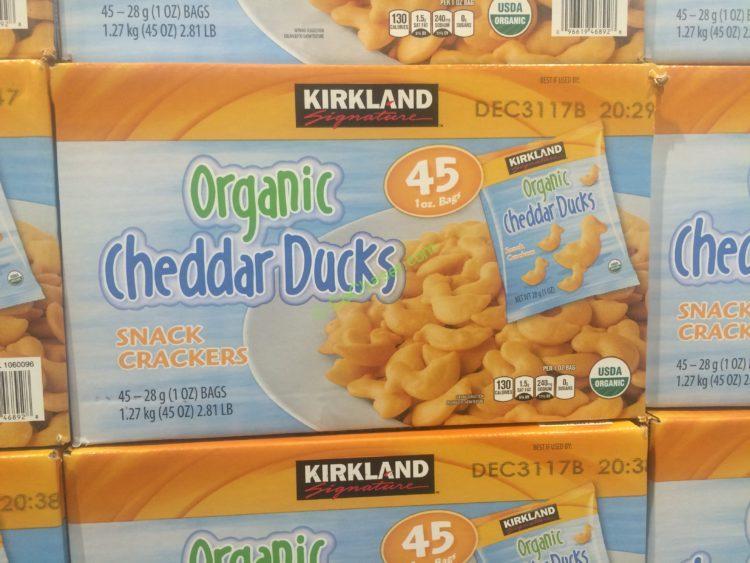 Kirkland Signature Organic Duck Crackers 45 Count Box