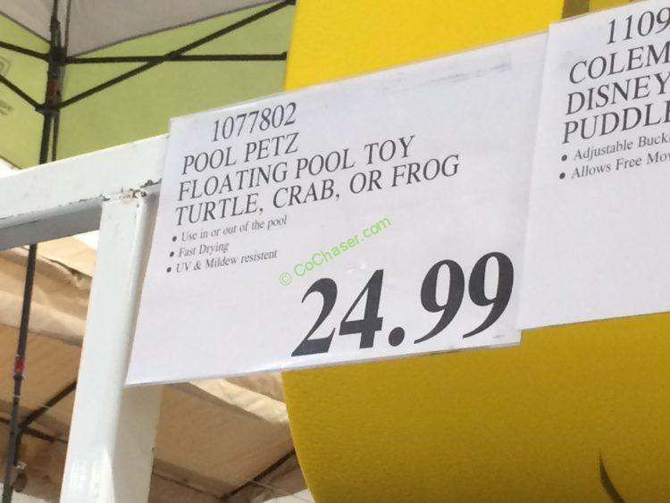 Pool Petz Floating Pool Toy Turtle Crab Or Frog