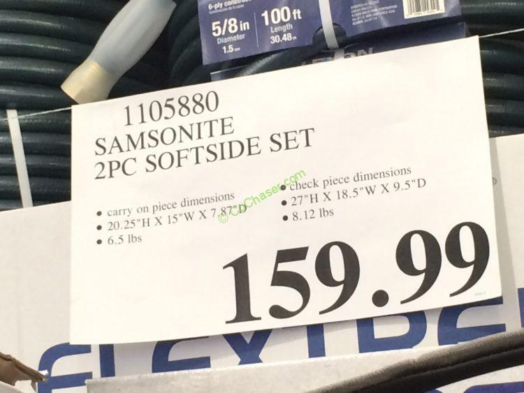 Costco-1105880-Samsonite-2Piece-Softside-tag