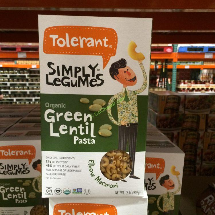 Tolerant Organic Green Lentil Macaroni 2 Pound Box Costcochaser