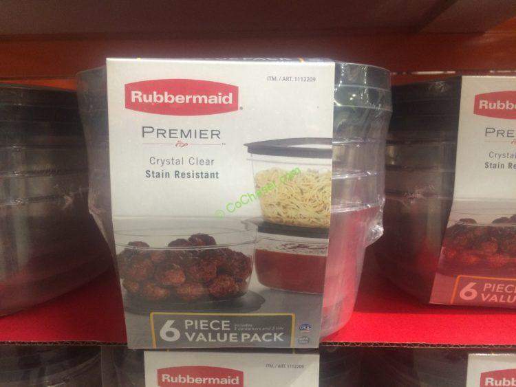 Rubbermaid 6PC 14 Cup Premier Crystal Clear Food Storage Set