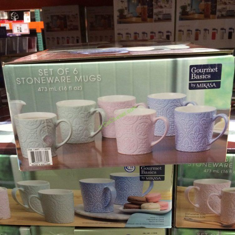Stoneware Mikasa Mug Set Costcochaser – 6pc QshrdCtx