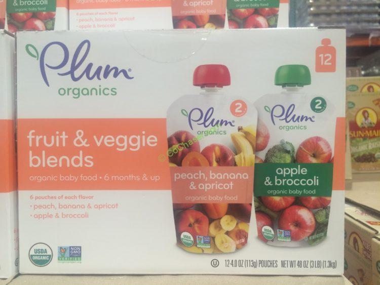 Plum Organics Fruit & Veggie Blends Baby Food