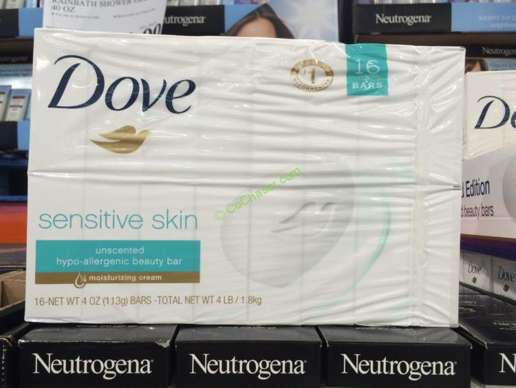 Dove Sensitive Skin Bar 16 CT- 4.0 OZ