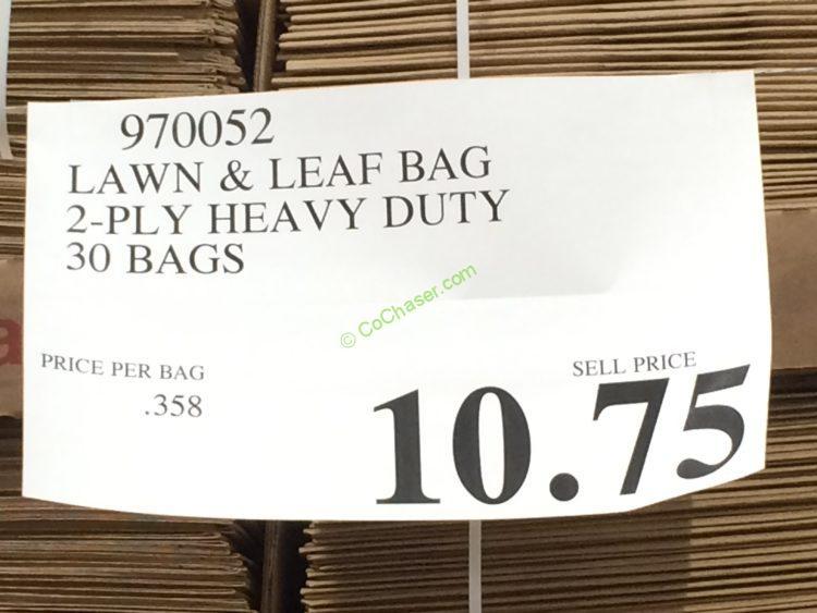 Lawn Amp Leaf Bag 2 Ply Heavy Duty 30 Bags Costcochaser