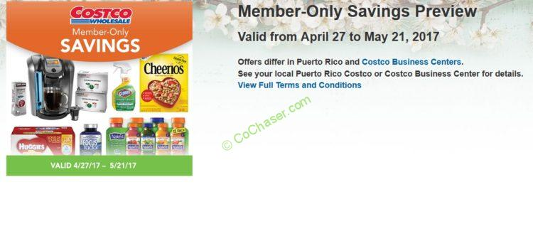 Costco Coupon Book: April 27 – May 21, 2017