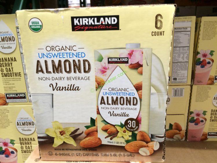 Kirkland Signature Organic Almond Beverage 6/32 Ounce