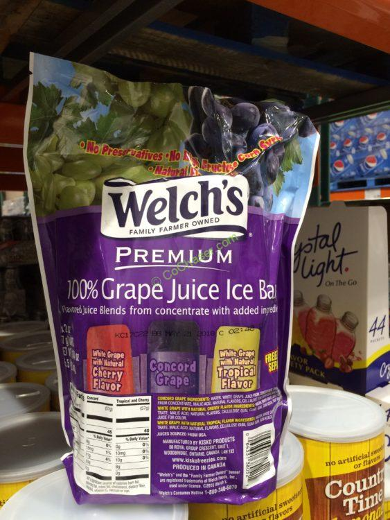 Welch's 100% Grape Juice Ice Bars 52 Count