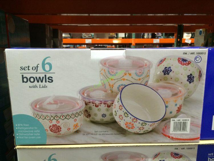 Signature Housewares GYPSY 17 OZ Bowls Set of 6