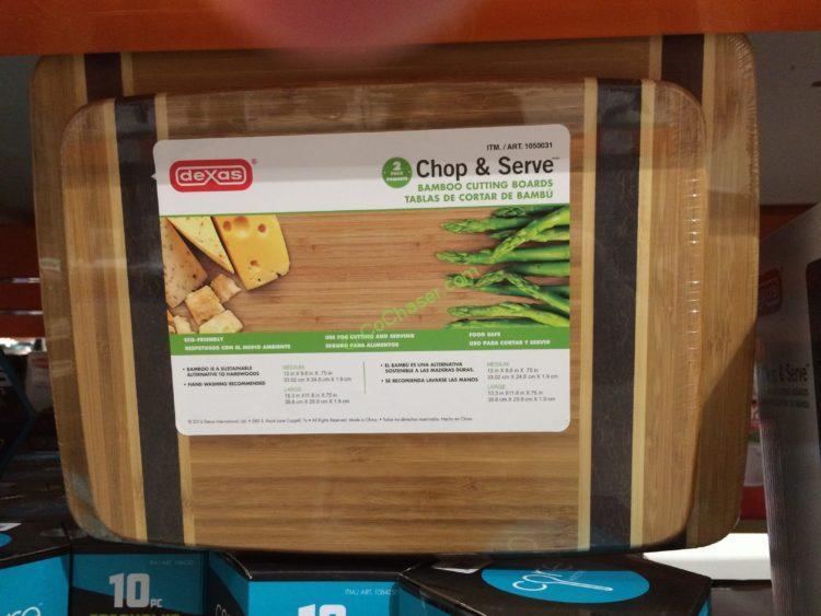 DEXAS 2PC Bamboo Cutting Boards