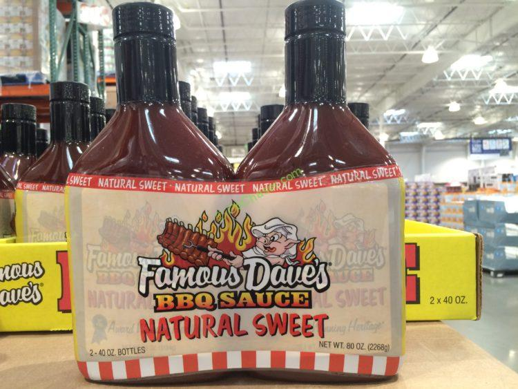 Famous Daves Natural Sweet BBQ 2/40 Ounce Bottles