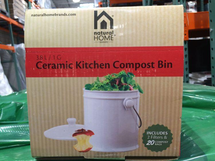 Natural Home Ceramic Kitchen Compost Bin