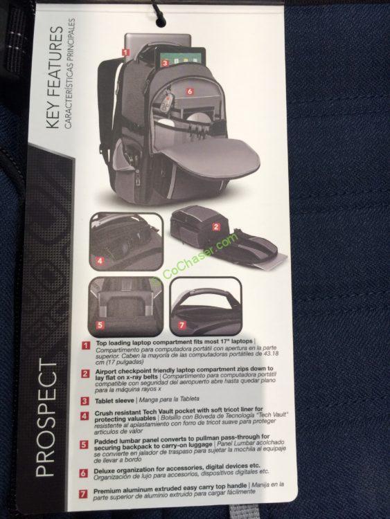 Costco 1104794 Ogio Prospect Utility Backpack Spec