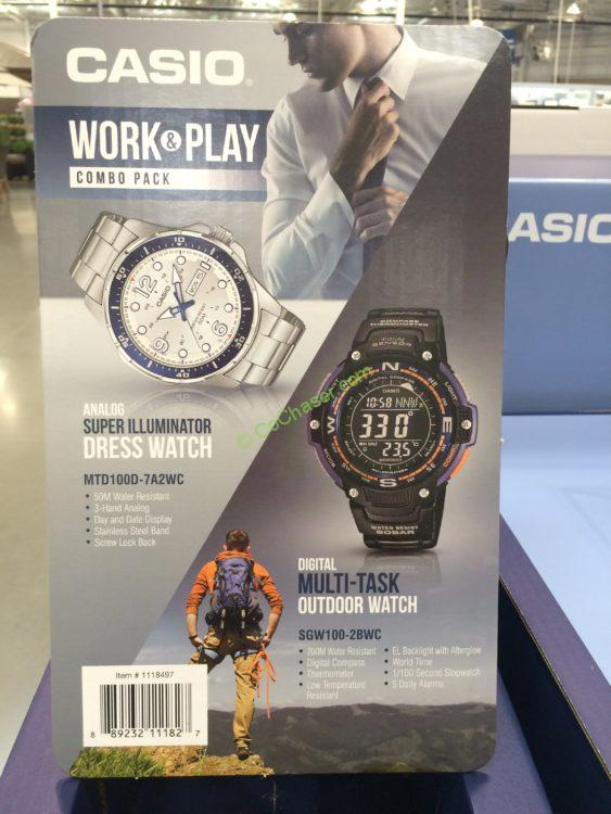 Casio Work & Play Analog & Digital Men's Watch Set