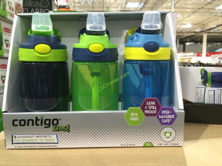 Contigo Kids Water Bottle 3PK