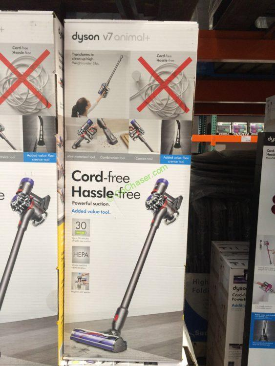 Costco 1133310 Dyson V6 Animal Cordless Stick Vacuum Box