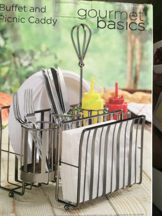 Costco 1135910 Gourmet Basics By Mikasa Picnic Caddy Pic1