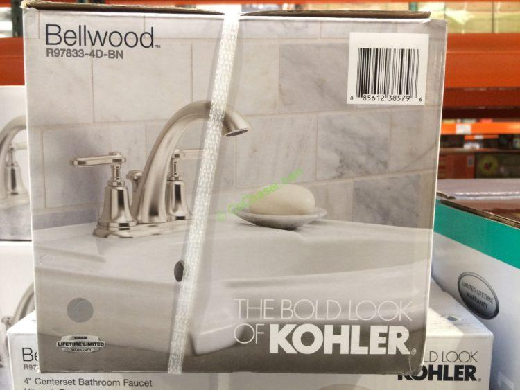 Kohler Bellwood Centerset Bathroom Faucet Brushed Nickel