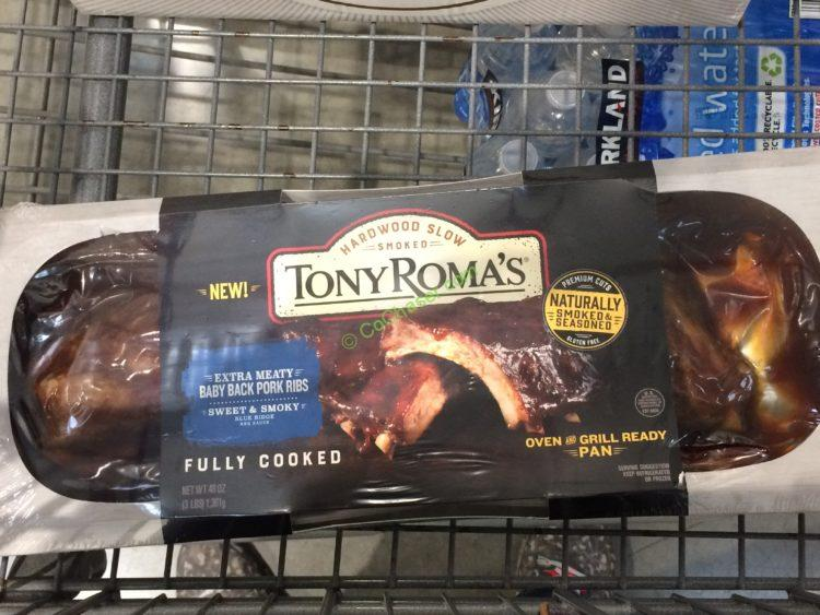 Tony Roma's Baby Back Ribs 48 Ounce Container
