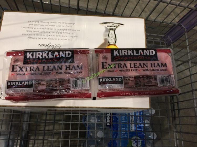 Kirkland Signature Extra Lean Sliced Ham 2/24 Ounce Packages