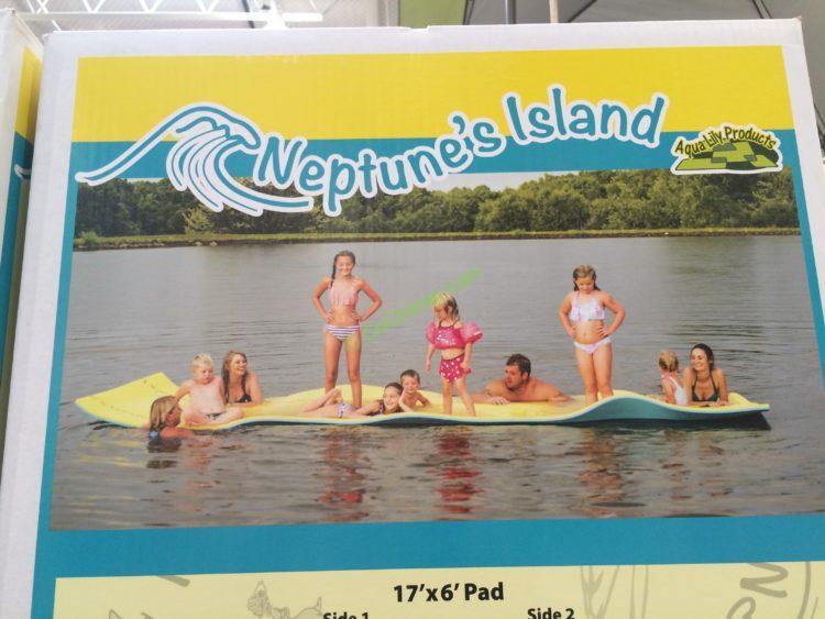 Aqua Lily Neptune's Island Water Mat