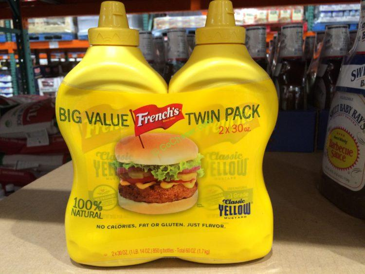 French's Yellow Mustard 2/30 Ounce Bottles