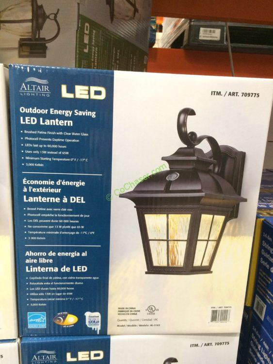 Costco 709775 Altair Outdoor Saving Le Lantern Box
