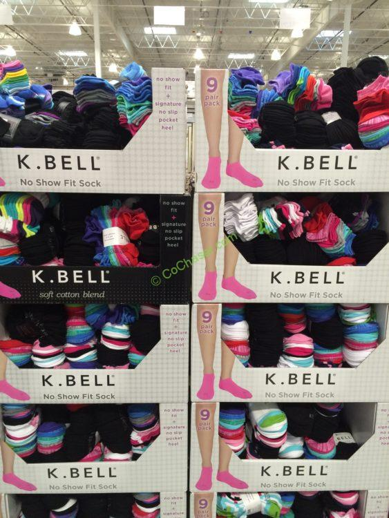K. Bell Ladies' No Show Sock 9 Pair