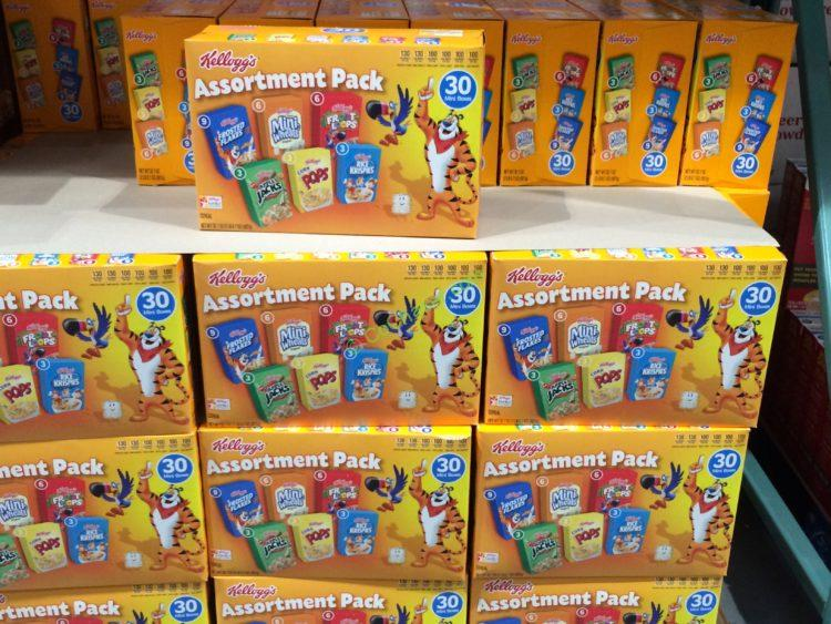 Kellogg S Variety Pack Cereal 30 Count Box Costcochaser