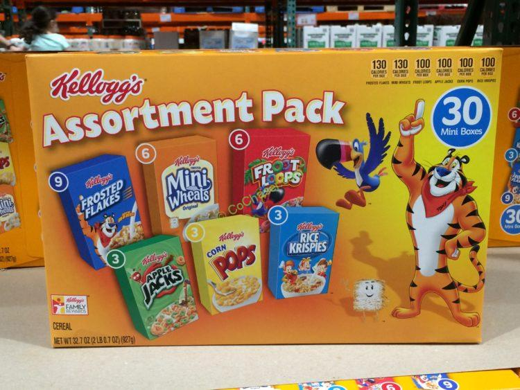 Kellogg's Variety Pack Cereal 30 Count Box
