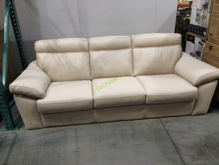 Costco 1041123 Natuzzi Group Leather Sofa
