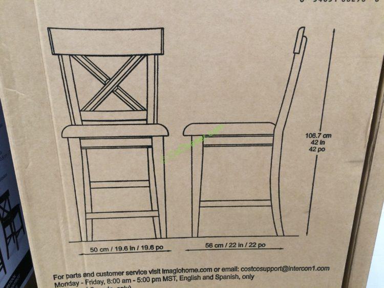Costco 1041199 Imagio Home Furniture 9pc Counter Height